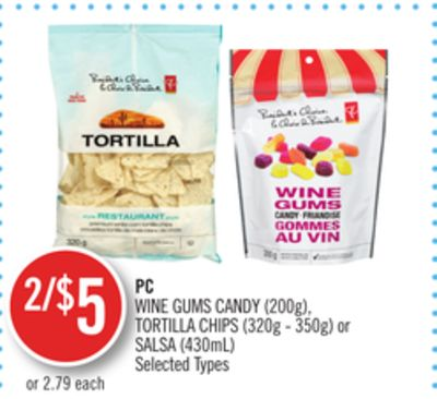 PC Wine Gums Candy (200g) - Tortilla Chips (320g - 350g) or Salsa (430ml)