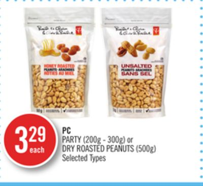 PC Party (200g - 300g) or Dry Roasted Peanuts (500g)