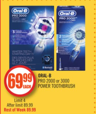Oral-b Pro 2000 or 3000 Power Toothbrush
