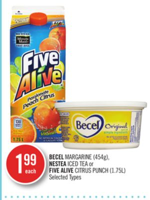 Becel Margarine (454g) - Nestea Iced Tea or Five Alive Citrus Punch (1.75l)