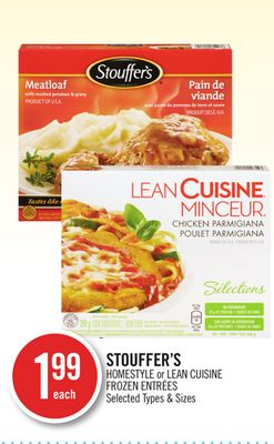 Stouffer's Homestyle or Lean Cuisine
