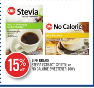 Life Brand Stevia Extract - Xylitol or No Calorie Sweetener