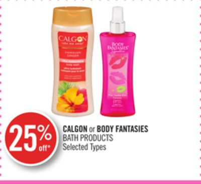 Calgon or Body Fantasies Bath Products