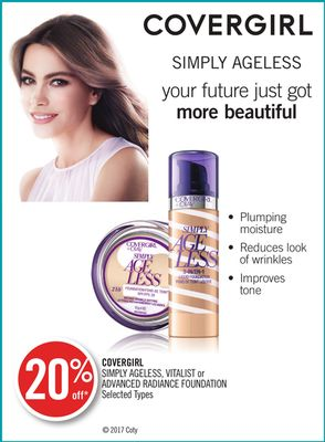 Covergirl Simply Ageless - Vitalist or Advanced Radiance Foundation