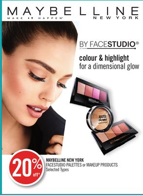 Maybelline New York Facestudio Palettes or Makeup Products