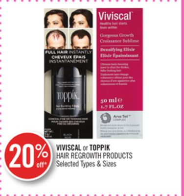 Viviscal or Toppik Hair Regrowth Products