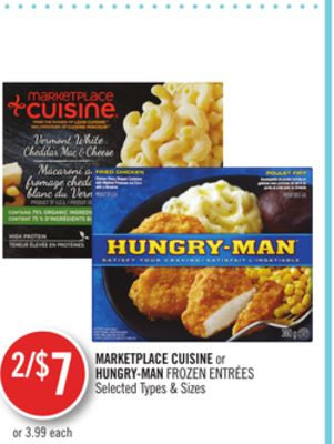 Marketplace Cuisine or Hungry-man Frozen Entrées