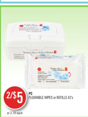 PC Flushable Wipes or Refills