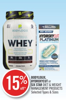 Bodylogix - Hydroxycut or Six Star Diet & Weight Management Products