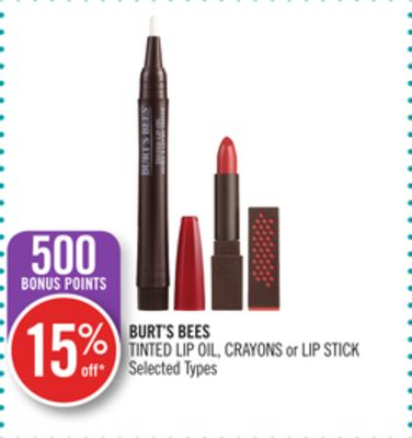 Burt's Bees Tinted Lip Oil - Crayons or Lip Stick