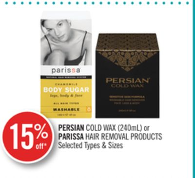 Persian Cold Wax (240ml) or Parissa Hair Removal Products