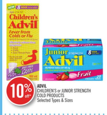 Advil Children's or Junior Strength Cold Products