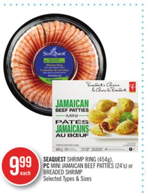 Seaquest Shrimp Ring (454g) - PC Mini Jamaican Beef Patties (24's) or Breaded Shrimp