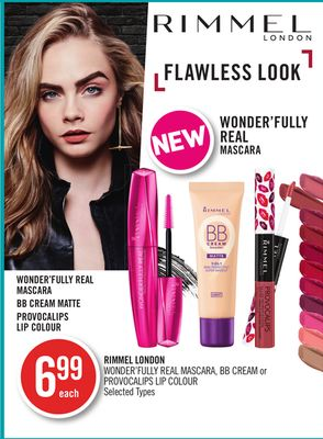 Rimmel London Wonder'fully Real Mascara - Bb Cream or Provocalips Lip Colour