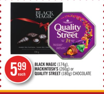 Black Magic (174g) - Mackintosh's (260g) or Quality Street (180g) Chocolate