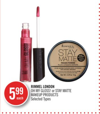 Rimmel London Oh My Gloss! or Stay Matte Makeup Products