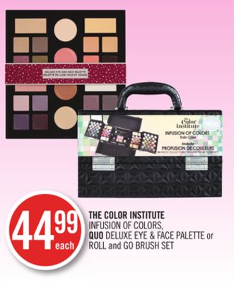 The Color Institute Infusion Of Colors - Quo Deluxe Eye & Face Palette or Roll and Go Brush Set