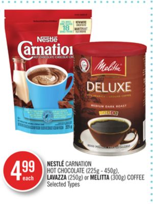 Nestlé Carnation Hot Chocolate (225g - 450g) - Lavazza (250g) or Melitta (300g) Coffee