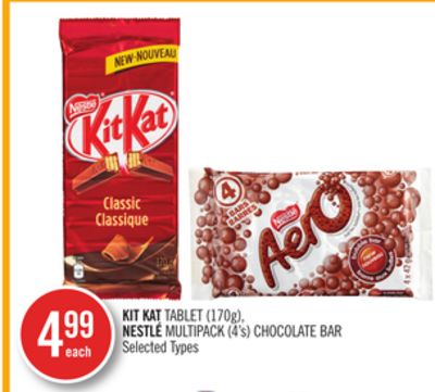 Kit Kat Tablet (170g) - Nestlé Multipack (4's) Chocolate Bar