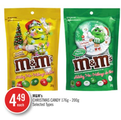 M&m's Christmas Candy