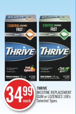 Thrive Nicotine Replacement GUM or Lozenges