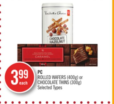 PC Rolled Wafers (400g) or Chocolate Thins (300g)