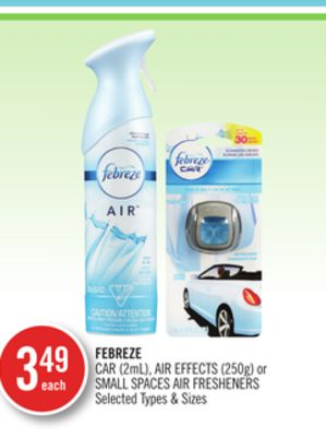 Febreze Car (2ml) - Air Effects (250g) or Small Spaces Air Fresheners