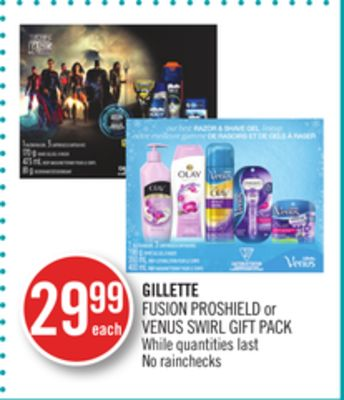 Gillette Fusion Proshield or Venus Swirl Gift Pack