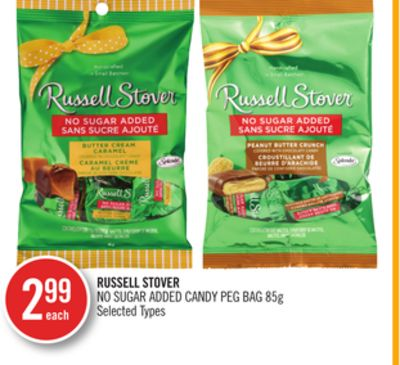Russell Stover No Sugar Added Candy Peg Bag