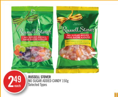 Russell Stover No Sugar Added Candy