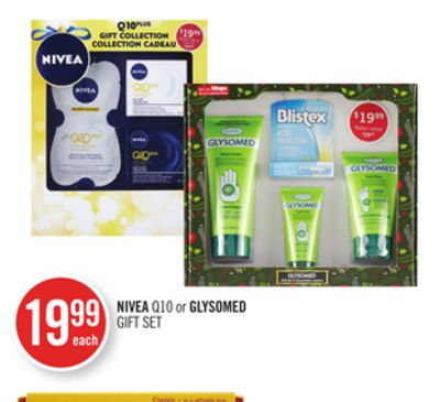 Nivea Q10 or Glysomed Gift Set