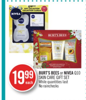 Burt's Bees or Nivea Q10 Skin Care Gift Set