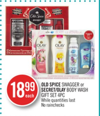 Old Spice Swagger or Secret/olay Body Wash Gift Set 4pc