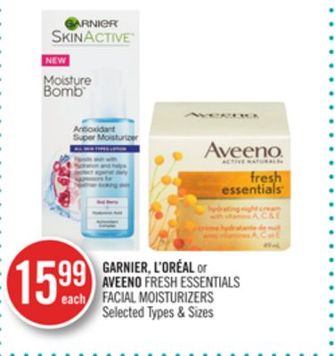 Garnier - L'oréal or Aveeno Fresh Essentials Facial Moisturizers