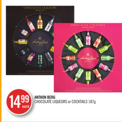 Anthon Berg Chocolate Liqueurs or Cocktails