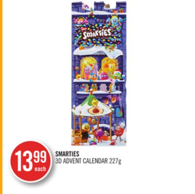 Smarties 3D Advent Calendar 227g