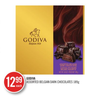 Godiva Assorted Belgian Dark Chocolates