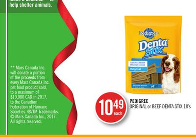 Pedigree Original or Beef Denta Stix