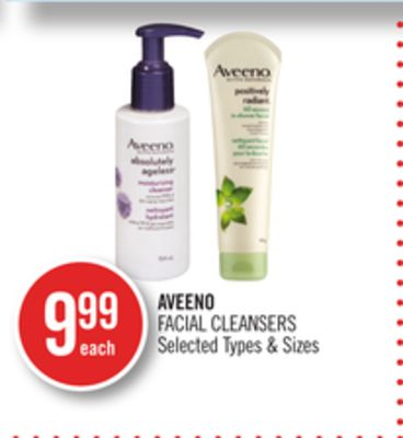 For explanation, Aveeno facial cleansers