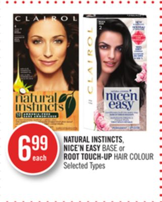 Natural Instincts - Nice'n Easy Base or Root Touch-up Hair Colour