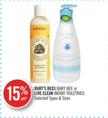 Burt's Bees Baby Bee or Live Clean Infant Toiletries