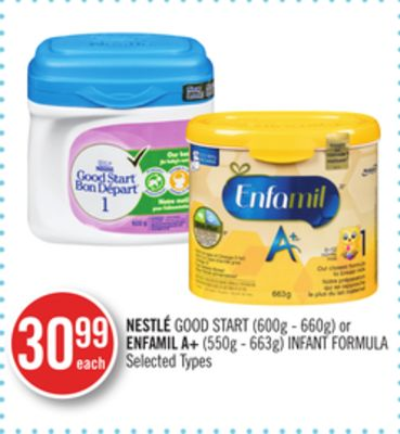 Nestlé Good Start (600g - 660g) or Enfamil A+ (550g - 663g) Infant Formula