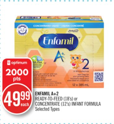 Enfamil A+2 Ready-to-feed (18's) or Concentrate (12's) Infant Formula