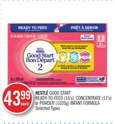 Nestlé Good Start Ready-to-feed (16's) - Concentrate (12's) or Powder (1020g) Infant Formula