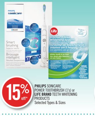 Philips Sonicare Power Toothbrush (1's) or Life Brand Teeth Whitening Products