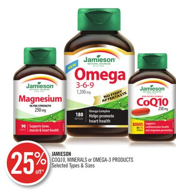 Jamieson Coq10 - Minerals or Omega-3 Products