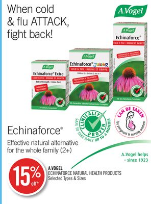 A.vogel Echinaforce Natural Health Products