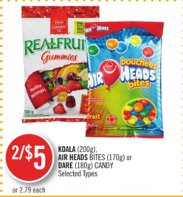 Koala (200g) - Air Heads Bites (170g) or Dare (180g) Candy