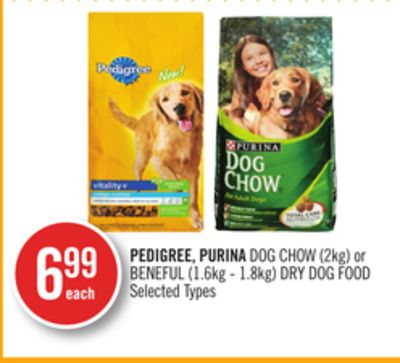 Pedigree - Purina Dog Chow (2kg) or Beneful (1.6kg - 1.8kg) Dry Dog Food