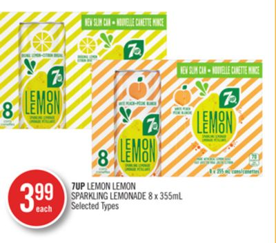 7up Lemon Lemon Sparkling Lemonade 8 X 355ml